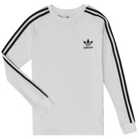 Υφασμάτινα Αγόρι Μπλουζάκια με μακριά μανίκια adidas Originals 3STRIPES LS Άσπρο