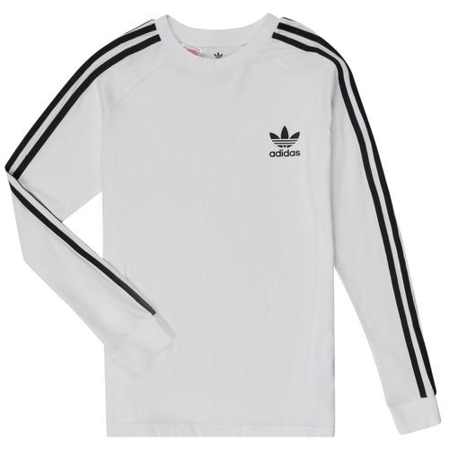Υφασμάτινα Παιδί Μπλουζάκια με μακριά μανίκια adidas Originals 3STRIPES LS Άσπρο