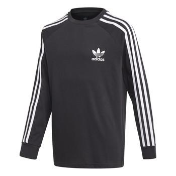 Υφασμάτινα Παιδί Μπλουζάκια με μακριά μανίκια adidas Originals 3STRIPES LS Black