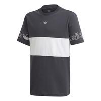 Υφασμάτινα Αγόρι T-shirt με κοντά μανίκια adidas Originals PANEL TEE Grey / Άσπρο