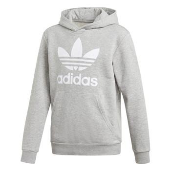 Υφασμάτινα Αγόρι Φούτερ adidas Originals TREFOIL HOODIE Grey