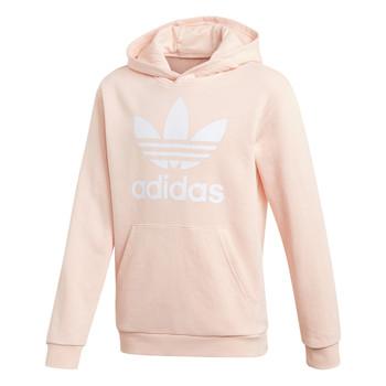Υφασμάτινα Κορίτσι Φούτερ adidas Originals TREFOIL HOODIE Ροζ