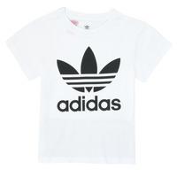 Υφασμάτινα Παιδί T-shirt με κοντά μανίκια adidas Originals TREFOIL TEE Άσπρο