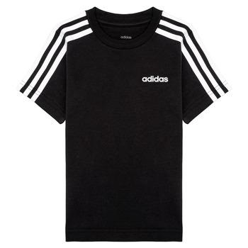 Υφασμάτινα Αγόρι T-shirt με κοντά μανίκια adidas Performance YB E 3S TEE Black