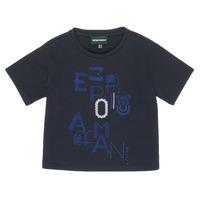 Υφασμάτινα Κορίτσι T-shirt με κοντά μανίκια Emporio Armani 6H3T7R-2J4CZ-0926 Marine