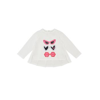 Υφασμάτινα Κορίτσι Μπλουζάκια με μακριά μανίκια Emporio Armani 6HEM01-3J2IZ-0101 Άσπρο