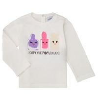 Υφασμάτινα Κορίτσι Μπλουζάκια με μακριά μανίκια Emporio Armani 6HET02-3J2IZ-0101 Άσπρο
