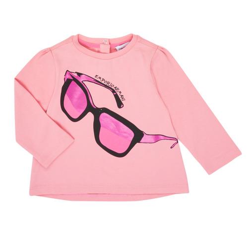 Υφασμάτινα Κορίτσι Μπλουζάκια με μακριά μανίκια Emporio Armani 6HET02-3J2IZ-0315 Ροζ