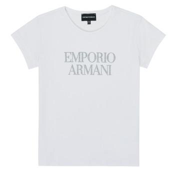 Υφασμάτινα Κορίτσι T-shirt με κοντά μανίκια Emporio Armani 8N3T03-3J08Z-0100 Άσπρο