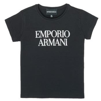 Υφασμάτινα Κορίτσι T-shirt με κοντά μανίκια Emporio Armani 8N3T03-3J08Z-0999 Black