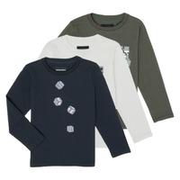 Υφασμάτινα Αγόρι Μπλουζάκια με μακριά μανίκια Emporio Armani 6H4D01-4J09Z-0564 Multicolour