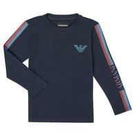 Υφασμάτινα Αγόρι Μπλουζάκια με μακριά μανίκια Emporio Armani 6H4TJD-1J00Z-0920 Marine