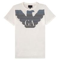Υφασμάτινα Αγόρι T-shirt με κοντά μανίκια Emporio Armani 6H4TQ7-1J00Z-0101 Άσπρο