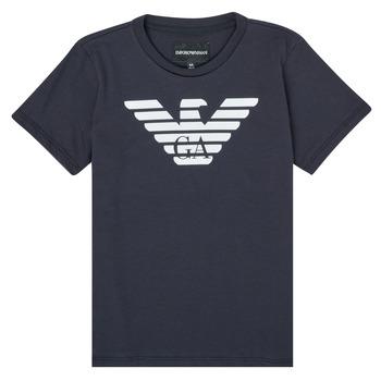 Υφασμάτινα Αγόρι T-shirt με κοντά μανίκια Emporio Armani 8N4T99-1JNQZ-0939 Marine