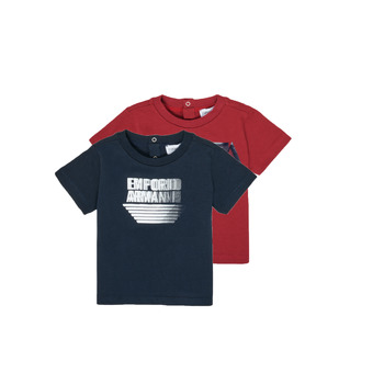 Υφασμάτινα Αγόρι T-shirt με κοντά μανίκια Emporio Armani 6HHD22-4J09Z-0353 Multicolour