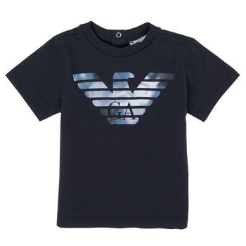 Υφασμάτινα Αγόρι T-shirt με κοντά μανίκια Emporio Armani 6HHTA9-1JDXZ-0920 Marine