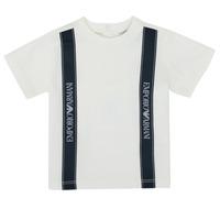 Υφασμάτινα Αγόρι T-shirt με κοντά μανίκια Emporio Armani 6HHTG4-1JTUZ-0101 Άσπρο