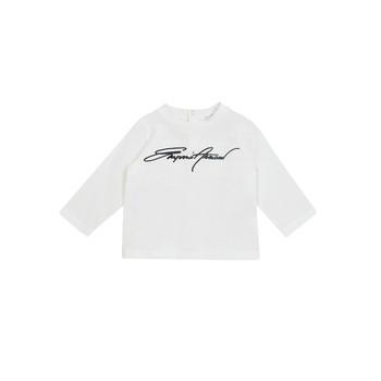 Υφασμάτινα Αγόρι Μπλουζάκια με μακριά μανίκια Emporio Armani 6HHTJN-1JTUZ-0101 Άσπρο