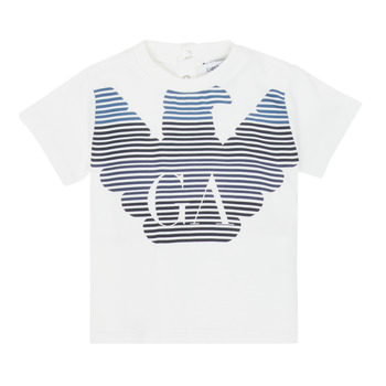 Υφασμάτινα Αγόρι T-shirt με κοντά μανίκια Emporio Armani 6HHTQ7-1J00Z-0101 Άσπρο