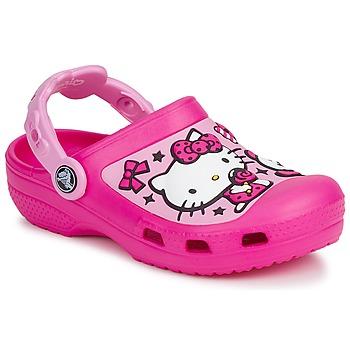 Παπούτσια Κορίτσι Σαμπό Crocs HELLO KITTY CANDY RIBBONS CLOG Ροζ
