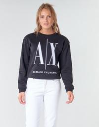 Υφασμάτινα Γυναίκα Φούτερ Armani Exchange 8NYM02 Black