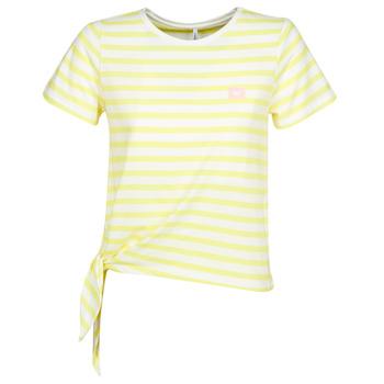 Υφασμάτινα Γυναίκα T-shirt με κοντά μανίκια Only ONLBRAVE Yellow