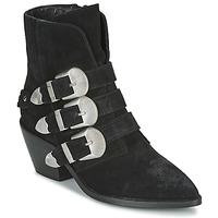 Παπούτσια Γυναίκα Μπότες Pepe jeans WESTERN W BUCKLE Black