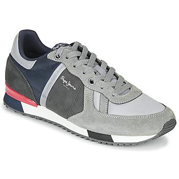 Παπούτσια Άνδρας Χαμηλά Sneakers Pepe jeans TINKER ZERO SECOND Grey / Bordeaux
