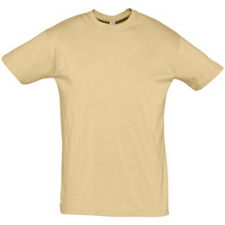 Υφασμάτινα Άνδρας T-shirt με κοντά μανίκια Sols REGENT COLORS MEN Marrón