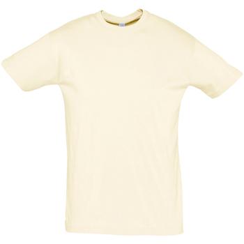 Υφασμάτινα Άνδρας T-shirt με κοντά μανίκια Sols REGENT COLORS MEN Beige