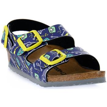 Παπούτσια Παιδί Σανδάλια / Πέδιλα Birkenstock MILANO ROBOTS BLUE CALZ S Blu