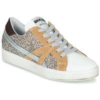 Παπούτσια Γυναίκα Χαμηλά Sneakers Meline IN1344 Άσπρο / Beige / Gold