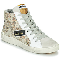 Παπούτσια Γυναίκα Ψηλά Sneakers Meline NK5050 Beige / Leopard