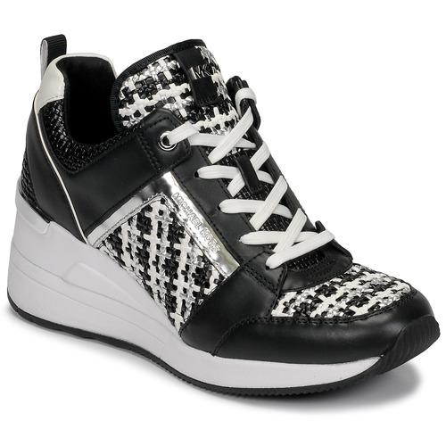 Παπούτσια Γυναίκα Χαμηλά Sneakers MICHAEL Michael Kors GEORGIE TRAINER Black / Άσπρο