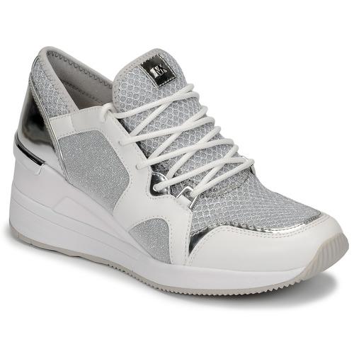 Παπούτσια Γυναίκα Χαμηλά Sneakers MICHAEL Michael Kors LIV TRAINER Άσπρο / Argenté
