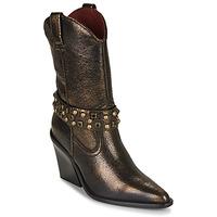 Παπούτσια Γυναίκα Μποτίνια Bronx NEW KOLE Black / Gold