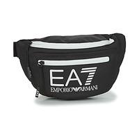 Τσάντες Μπανάνα Emporio Armani EA7 TRAIN CORE U SLING BAG Black / Άσπρο
