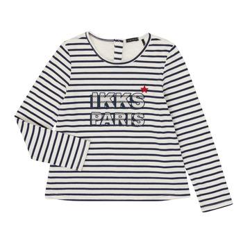 Υφασμάτινα Κορίτσι Μπλουζάκια με μακριά μανίκια Ikks XR10052 Άσπρο