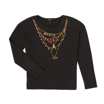 Υφασμάτινα Κορίτσι Μπλουζάκια με μακριά μανίκια Ikks XR10122 Black