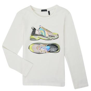 Υφασμάτινα Κορίτσι Μπλουζάκια με μακριά μανίκια Ikks XR10172 Άσπρο