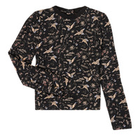 Υφασμάτινα Κορίτσι Μπλουζάκια με μακριά μανίκια Ikks XR12052 Black