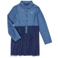 Υφασμάτινα Κορίτσι Κοντά Φορέματα Ikks XR30122 Μπλέ