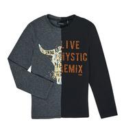 Υφασμάτινα Αγόρι Μπλουζάκια με μακριά μανίκια Ikks XR10143 Grey