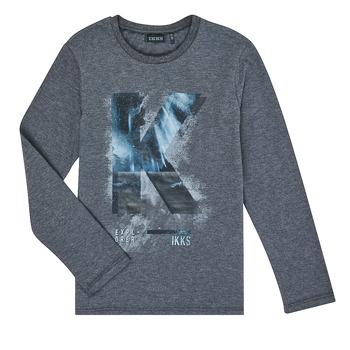 Υφασμάτινα Αγόρι Μπλουζάκια με μακριά μανίκια Ikks XR10203 Grey