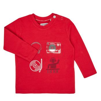 Υφασμάτινα Αγόρι Μπλουζάκια με μακριά μανίκια Ikks XR10011 Red