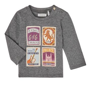 Υφασμάτινα Αγόρι Μπλουζάκια με μακριά μανίκια Ikks XR10081 Grey