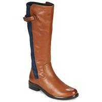 Παπούτσια Γυναίκα Μπότες για την πόλη Caprice 25504-387 Cognac / Μπλέ