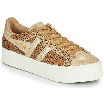 Παπούτσια Γυναίκα Χαμηλά Sneakers Gola ORCHID PLATEFORM SAVANNA Gold / Guépard