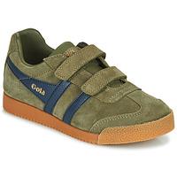 Παπούτσια Παιδί Χαμηλά Sneakers Gola HARRIER VELCRO Kaki / Marine