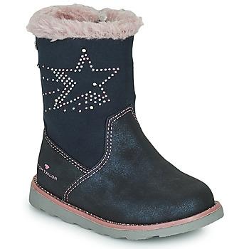 Παπούτσια Κορίτσι Μπότες για την πόλη Tom Tailor 72307-BLEU Μπλέ